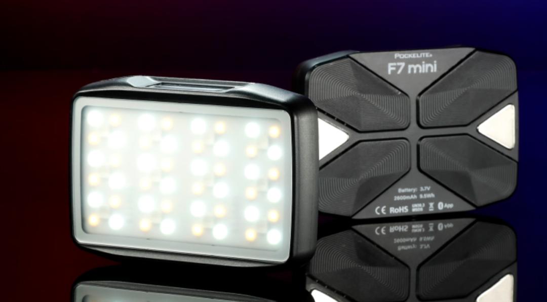 小而多彩!锐鹰F7mini多彩RGB补光灯开箱分享